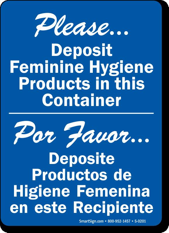 Feminine Hygiene Signs Do Not Deposit Sanitary Trash