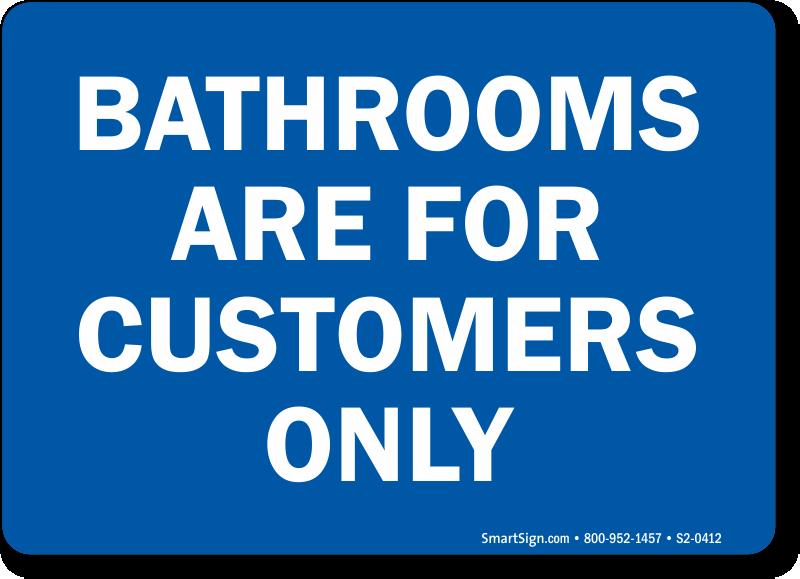 No Public Bathroom Sign Bathroom Design Ideas