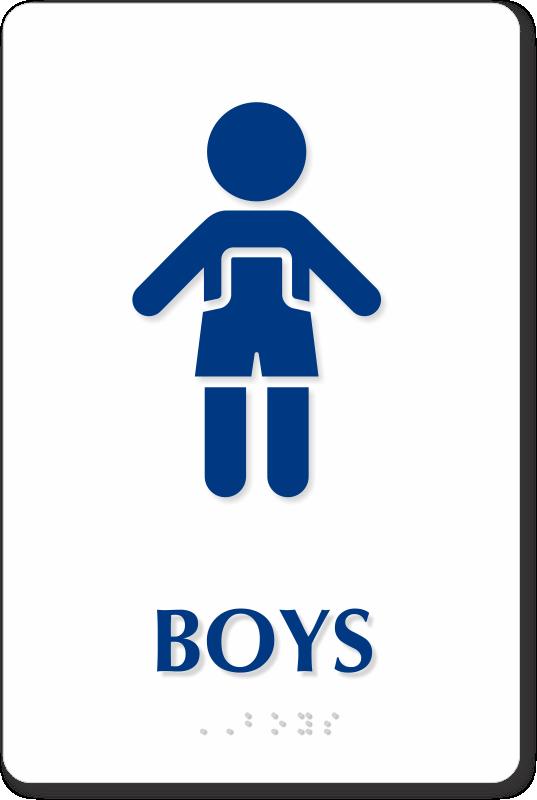 Kids Toilet Signage