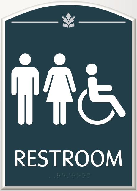 Bathroom Sign Graphics contour bathroom signs
