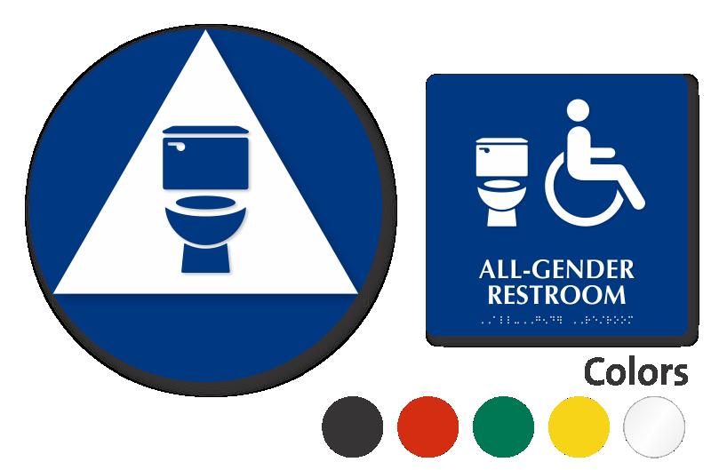 All-Gender Restroom Signs | Gender Neutral Restroom Signs