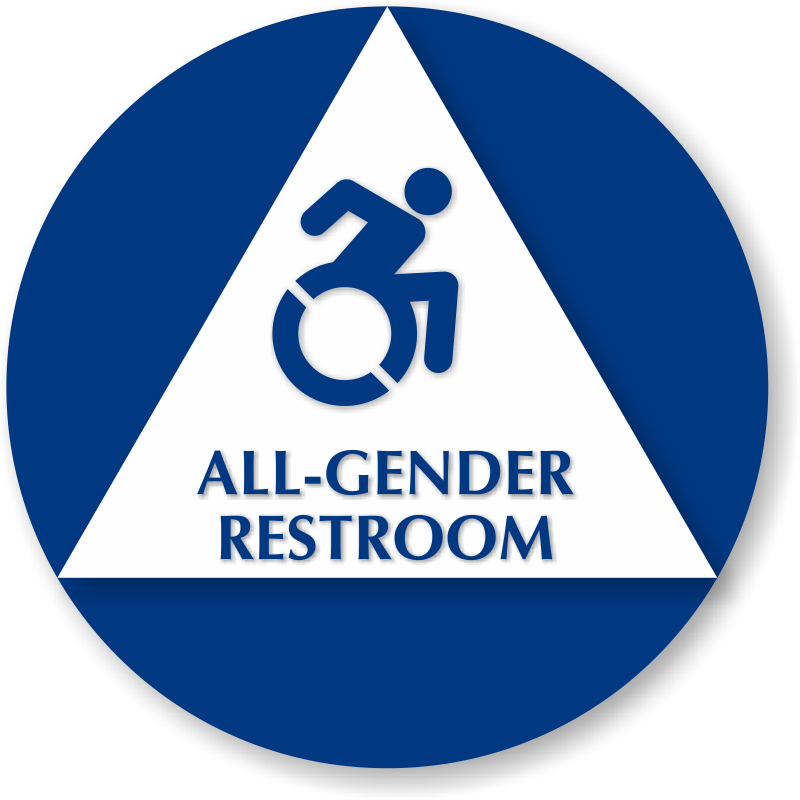 All Gender Isa Restroom Sign With New Accessibility Symbol Sku Se