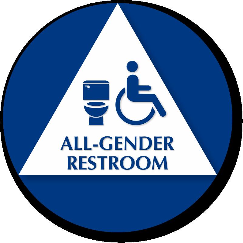 California All Gender Restroom Sign With Handicap Symbol
