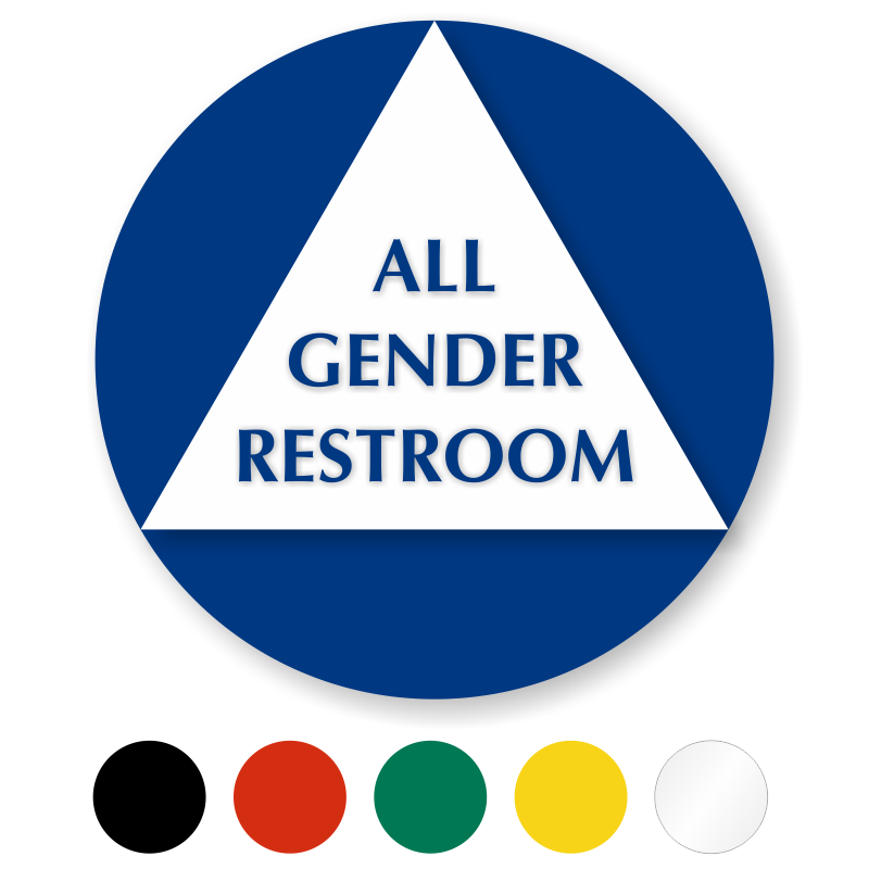 Bathroom Signs Circle And Triangle california restroom door signs
