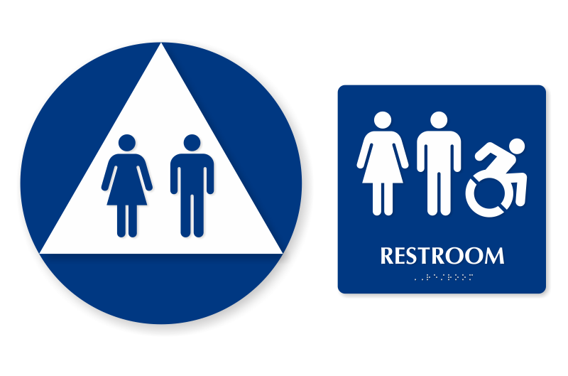 Bathroom Sign Handicap accessible restroom signs