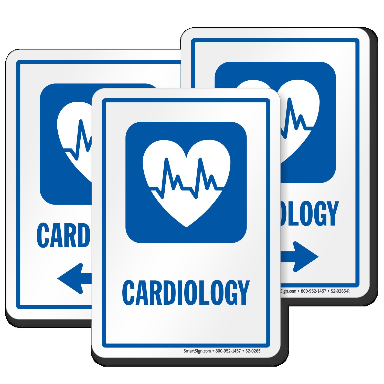 Cardiology Hospital Cardiologist Sign Hearts Ecg Symbol Sku S2 0265
