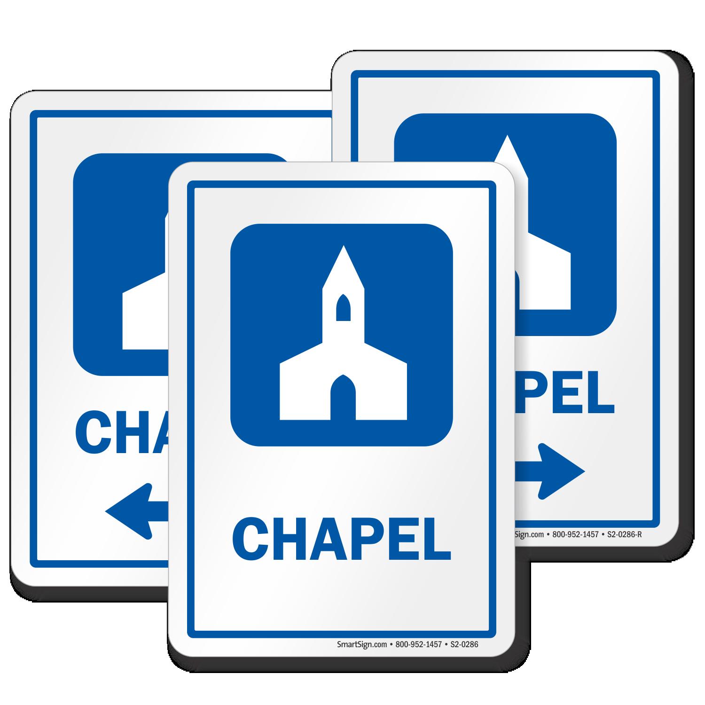 Chapel Prayer Room Sign Church Symbol Sku S2 0286