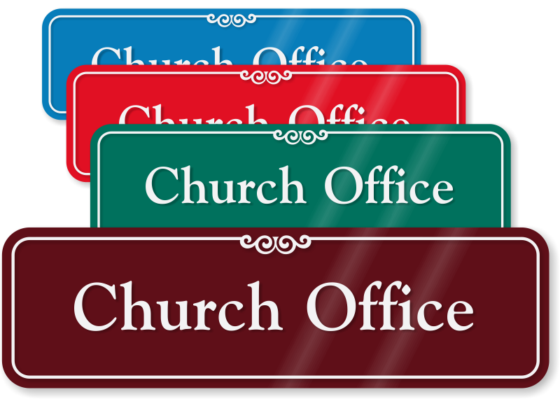Church Office Signs And Sanctuary Signs MyDoorSign - Office door signs templates