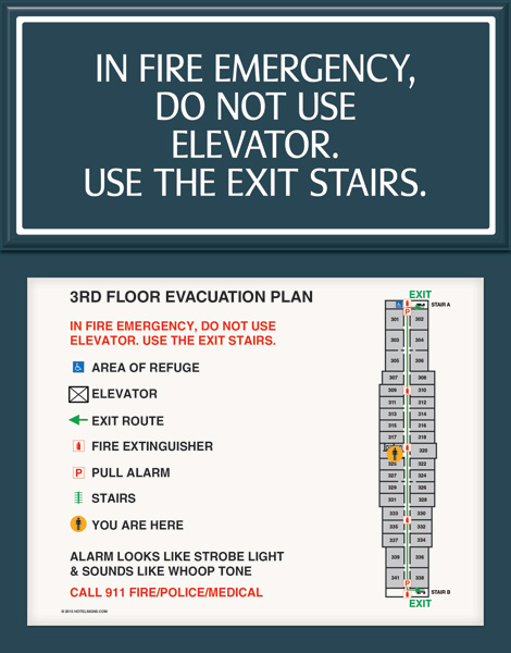 Do Not Use Elevator Braille Signs