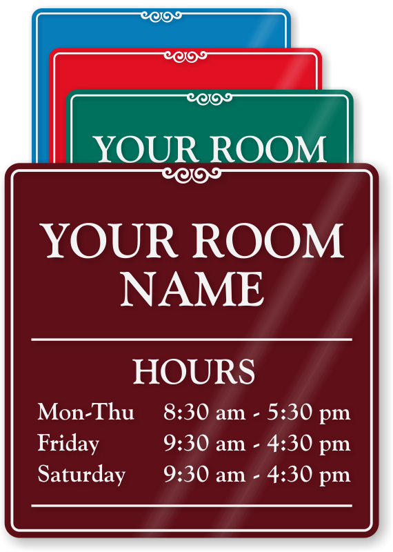 Holiday hours sign template free for Hours of operation template microsoft word