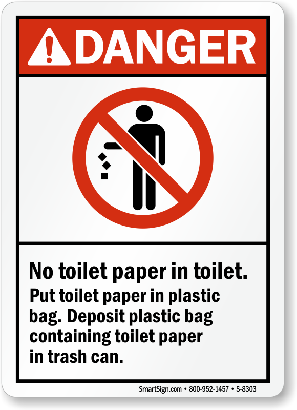 No Waste In Toilet Signs No Rubbish In Toilet Signs