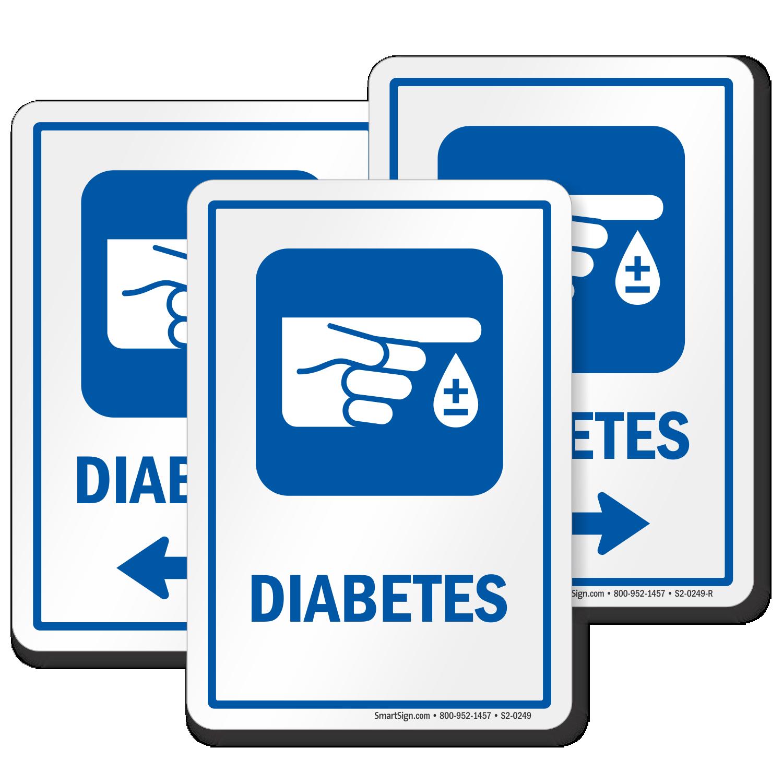 Diabetes Hospital Sign Finger Blood Drop Symbol Sku S2