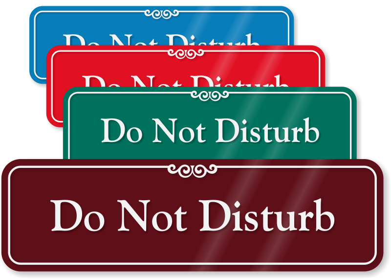 do not disturb sliding signs do not disturb sign barricades