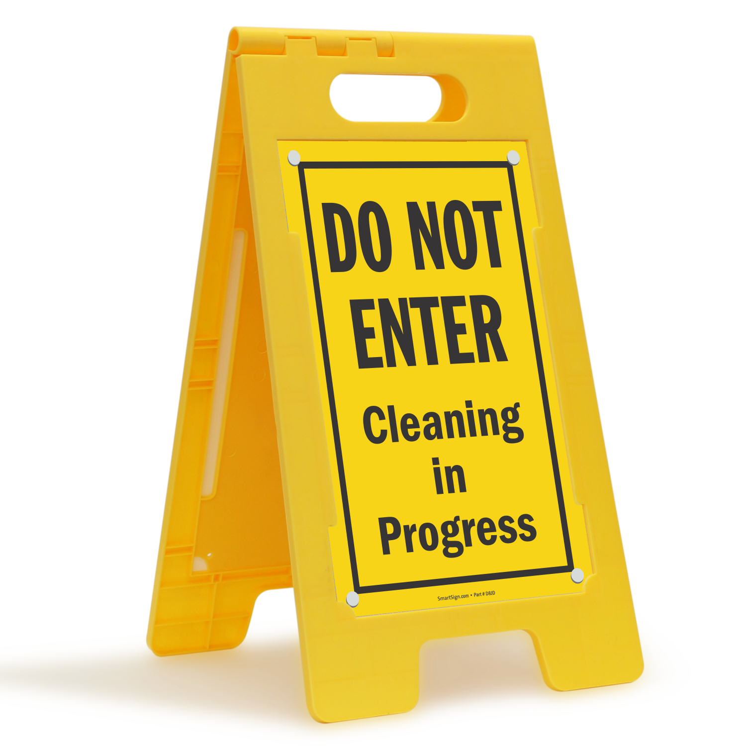 do not enter cleaning in progress portable floor sign  sku