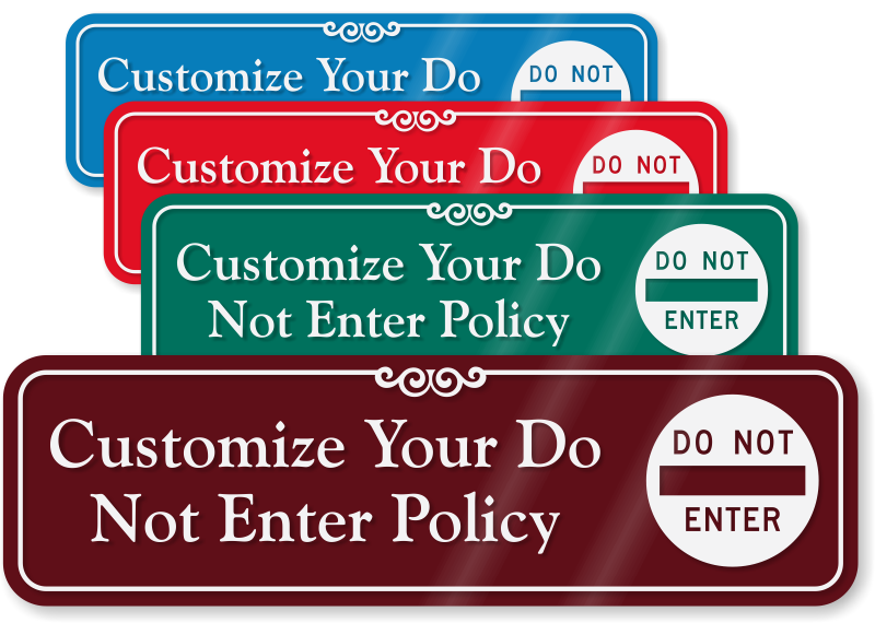 Zoom · Personalize  sc 1 st  MyDoorSign.com & Not An Entrance Signs from MyDoorSign