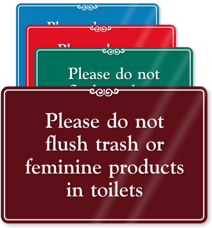 Bathroom Signs Do Not Flush bathroom hygiene signs | restroom hygiene signs
