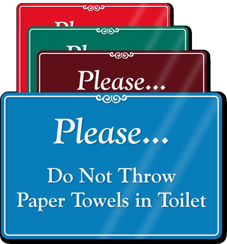 No Waste In Toilet Signs No Rubbish In Toilet Signs