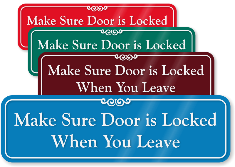 Zoom Price Buy  sc 1 st  MyDoorSign.com & Lock Door Signs | Keep Door Locked Signs