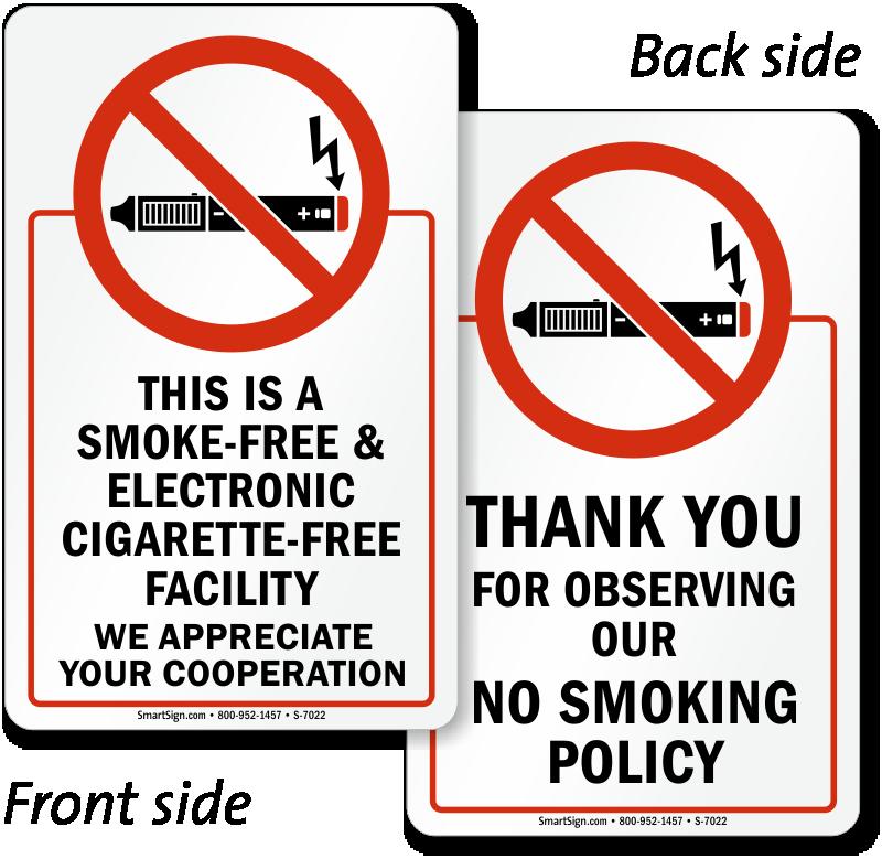 No E-Cigarette Signs | Electronic Cigarettes Prohibited Sign