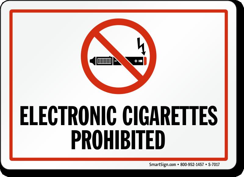 no e cigarette signs electronic cigarettes prohibited signs