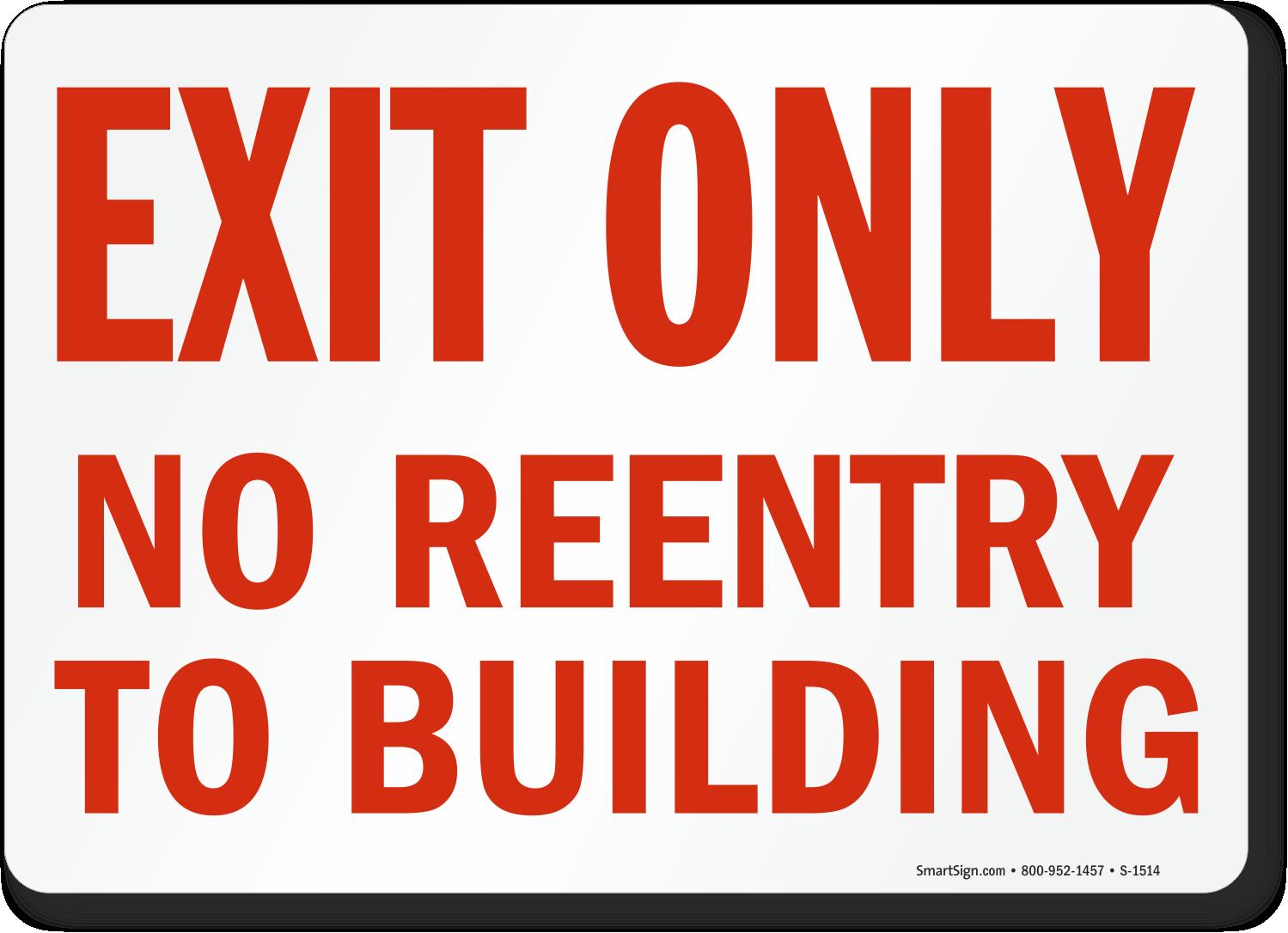 no reentry signs