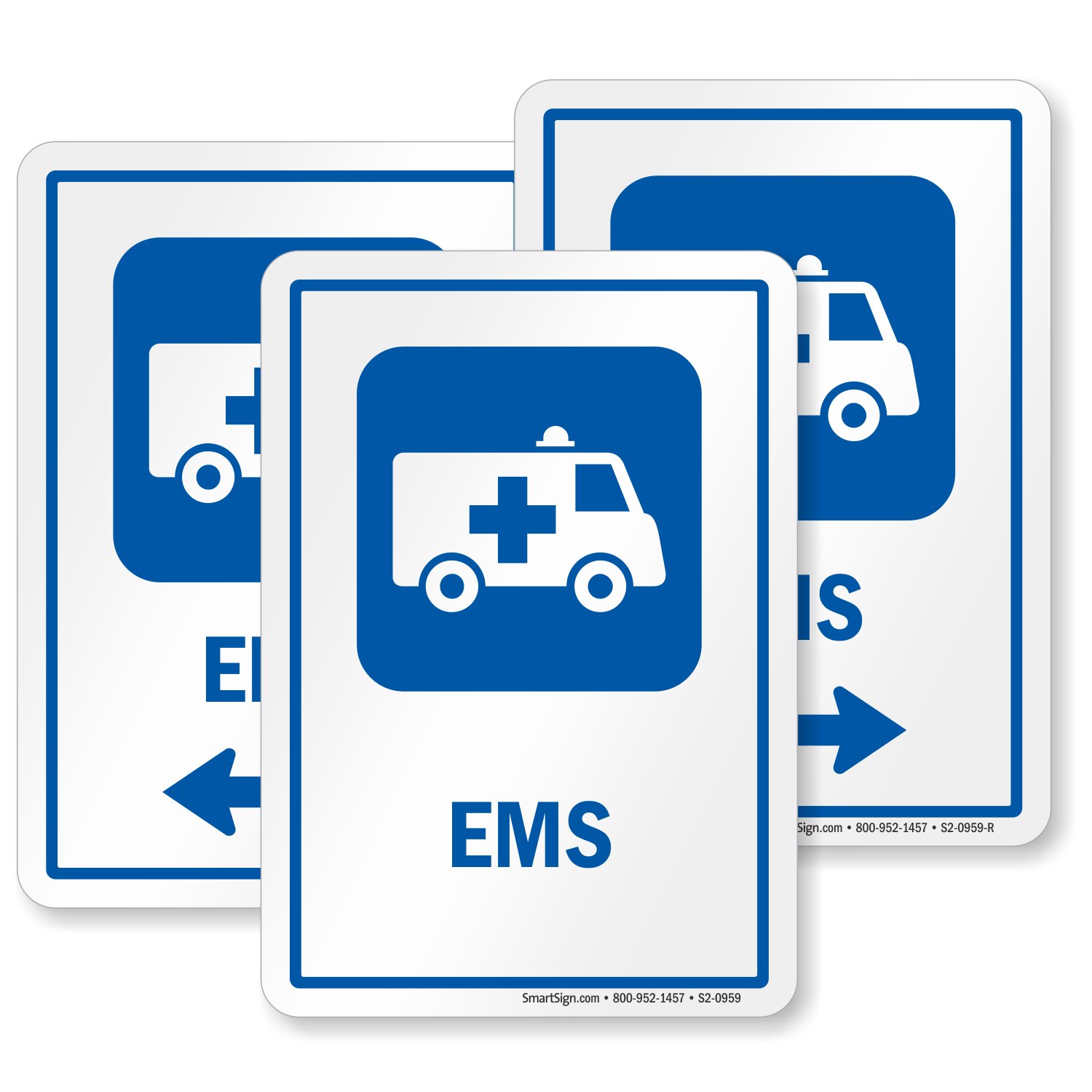 Ems Hospital Sign Emergency Medical Van Symbol Sku S2 0959