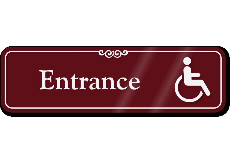 handicap entrance sign wheelchair accessible sign sku se 5134