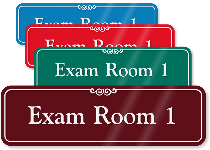 Exam Room Signs Sliding Exam Room Signs