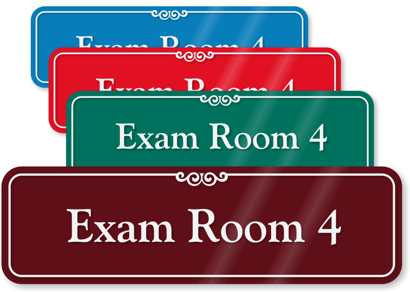 exam room signs sliding exam room signs