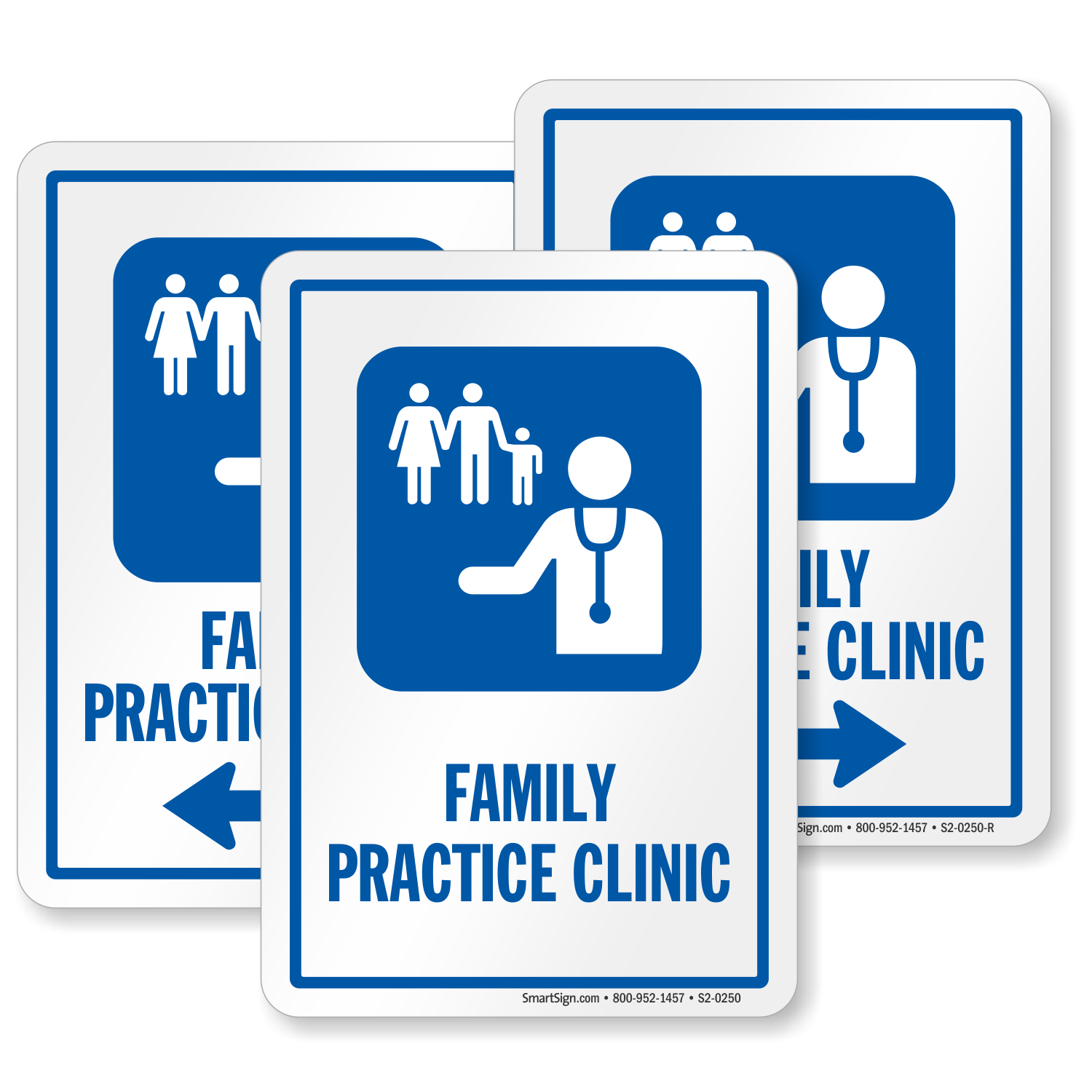 Family Practice Clinic Hospital Sign Family Doctor Symbol