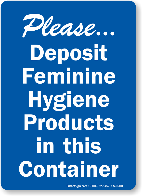 feminine hygiene signs do not deposit sanitary napkins