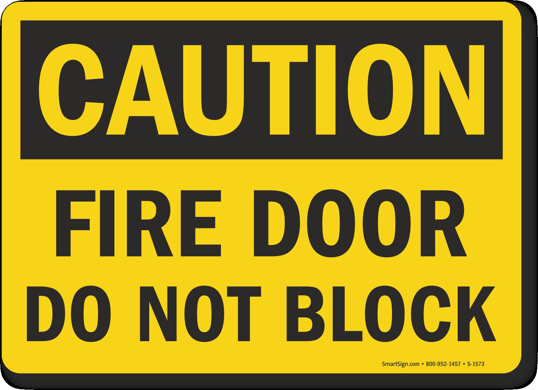 OSHA Caution Fire Door Block Sign  sc 1 st  MyDoorSign.com & Fire Door Do Not Block Sign Fire and Emergency Signs SKU: S-1573