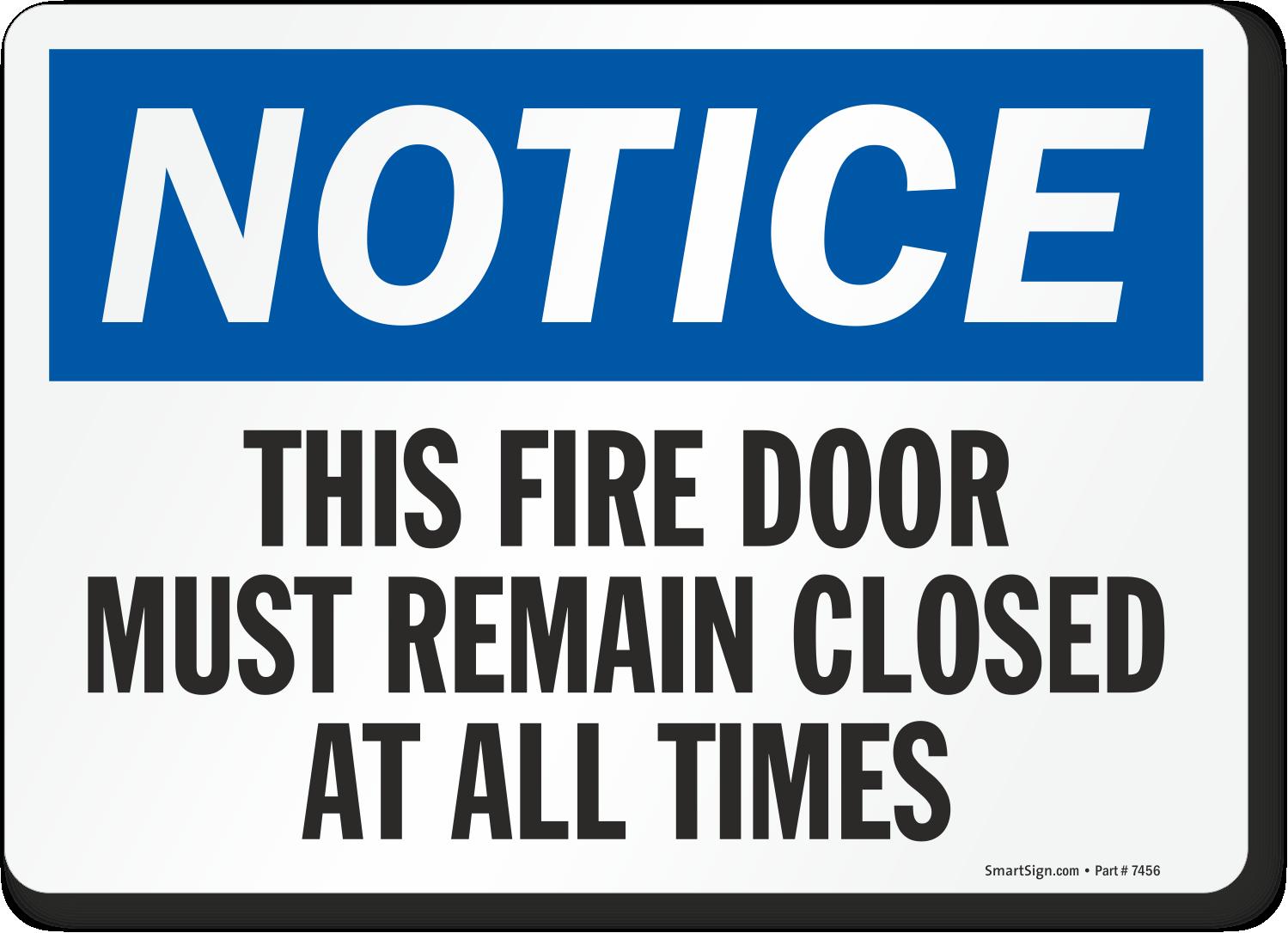 Zoom Price Buy  sc 1 st  MyDoorSign.com & Fire Door Keep Closed Signs