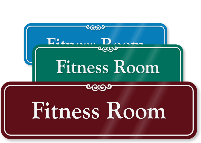 Gym fitness room signs health club at best price