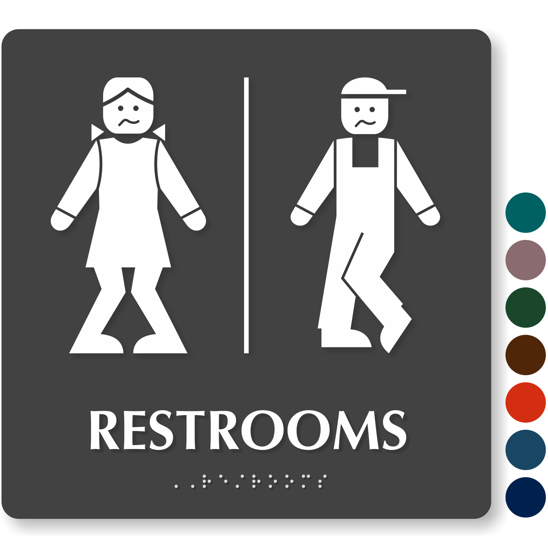 Free Bathroom Signs | Download PDF