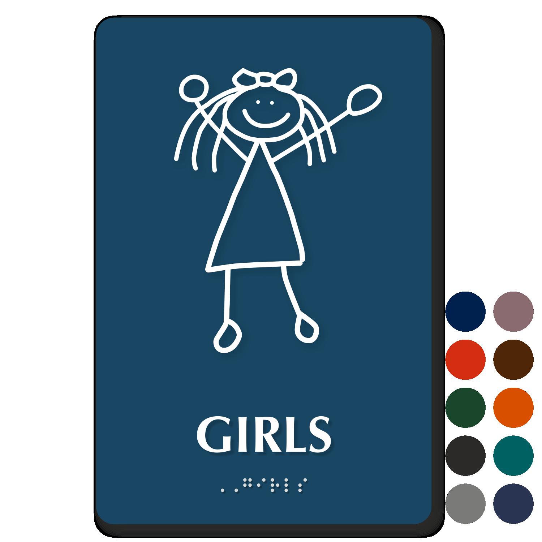 Girls Bathroom Signs Custom Girls Bathroom Signs