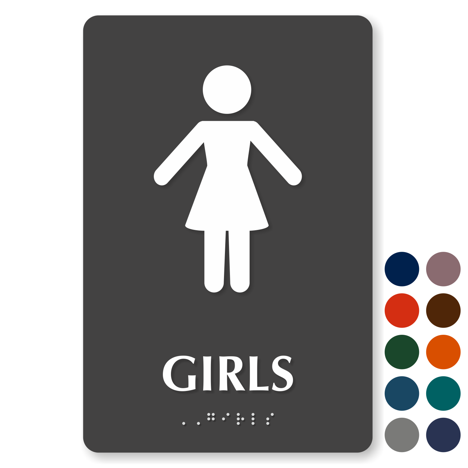 Girls bathroom signs custom girls bathroom signs for Girls bathroom symbol