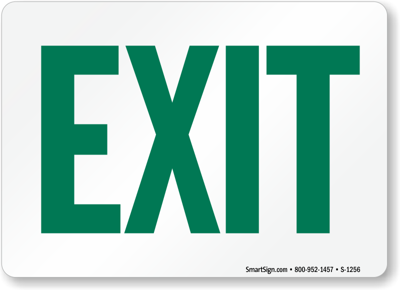 Zoom Price Buy  sc 1 st  MyDoorSign.com & Exit Signs | Exit Door Signs
