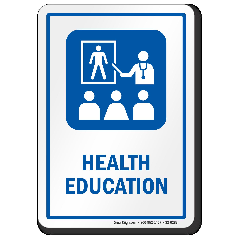 Health Education Sign For Hospitals Sku S2 0283