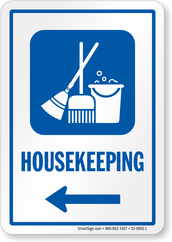 housekeeping signs housekeeping door signs