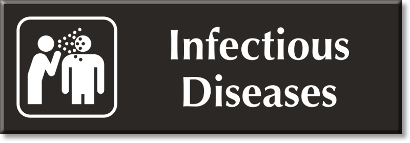 Infectious Diseases Sign Infectious Diseases Door Signs