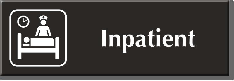 Inpatient Signs Inpatitent Door Signs
