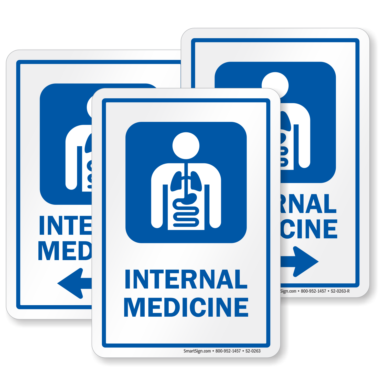 Internal Medicine Internists Hospital Sign Sku S2 0263
