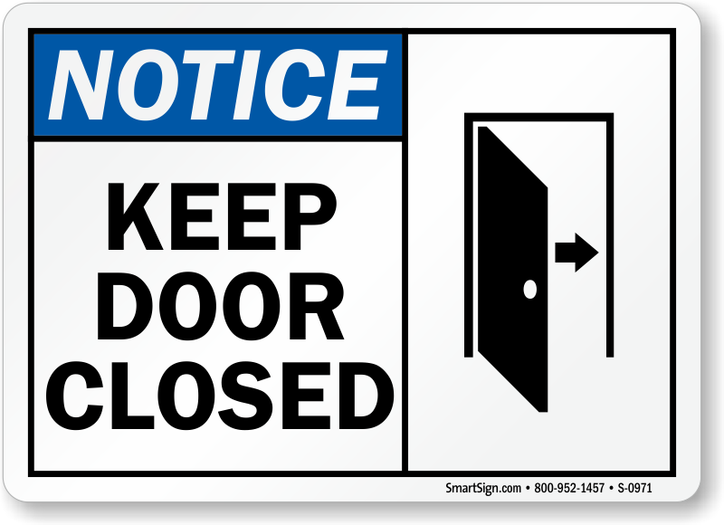 Keep Closed Signs Door Gate Signs Sku S 0971