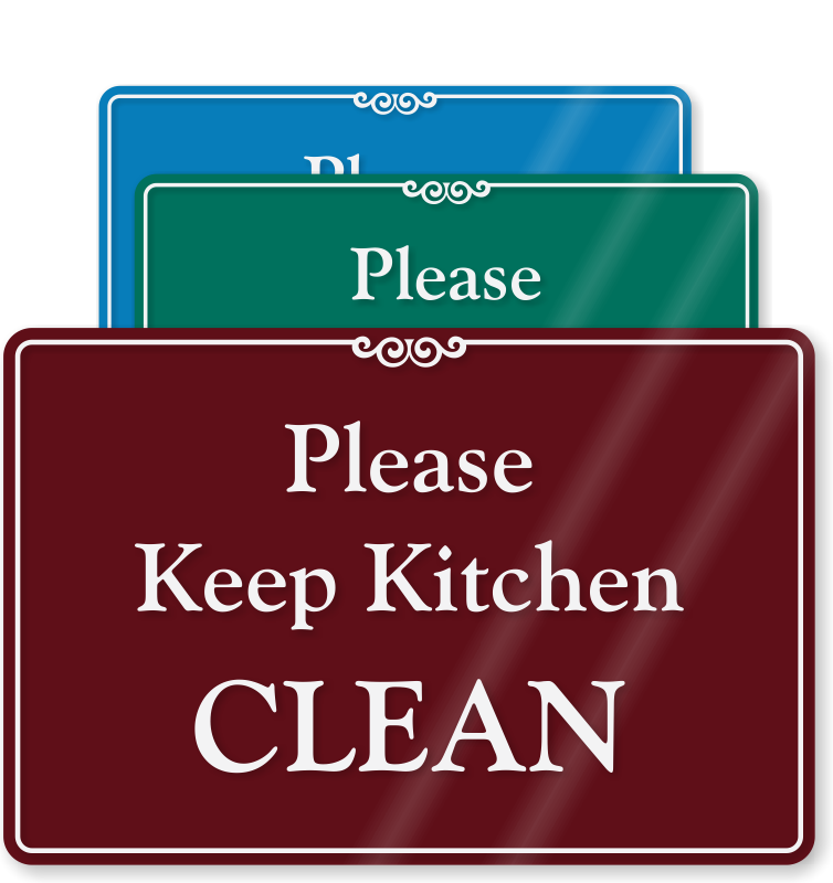 Kitchen Signs & Kitchen Courtesy Signs at Best Price
