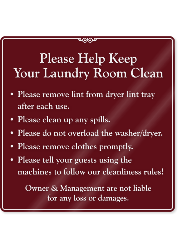 Help Keep Laundry Room Clean ShowCase Wall Sign