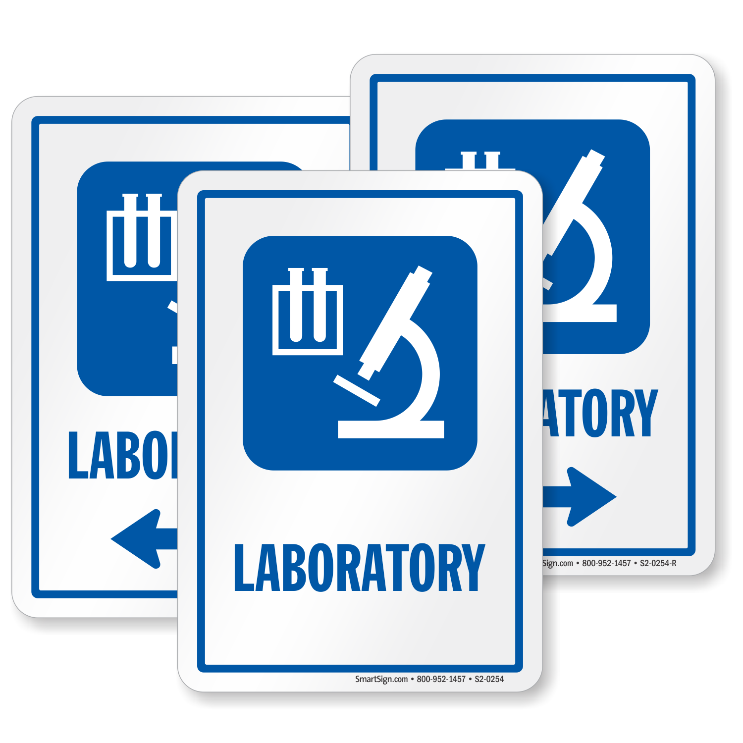 Laboratory Sign Medical Research Microscope Room Symbol