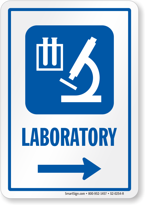 Laboratory Sign With Left Arrow Symbol Sku S2 0254 R