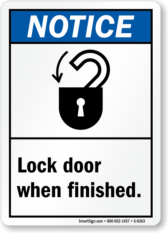 lock door sign. Zoom, Price, Buy Lock Door Sign MyDoorSign