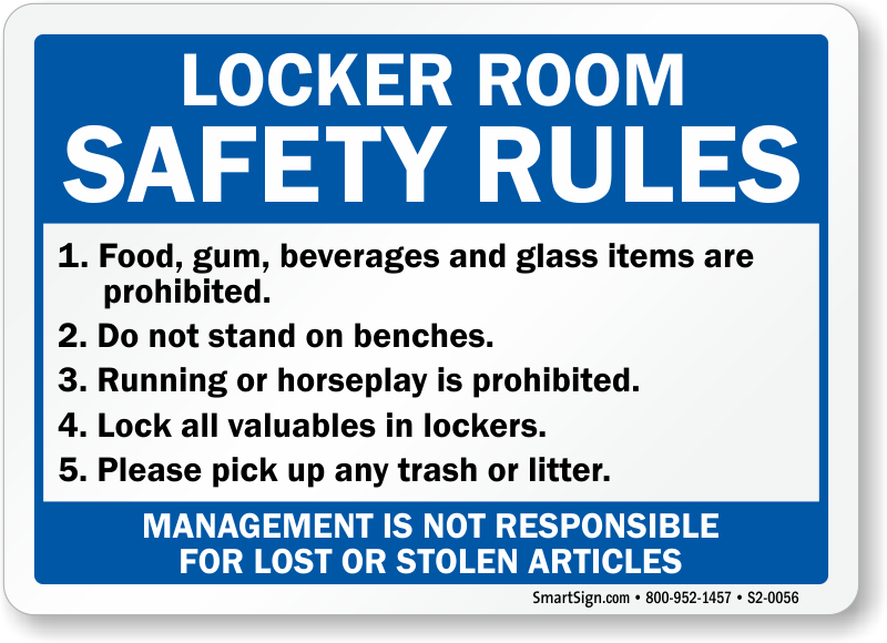 Well-known Locker Room Signs - Men and Women Locker Room Signs WP34